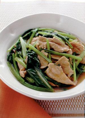 豚肉と小松菜のさっと煮