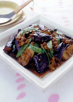 ひき肉となすのカレーじょうゆ煮
