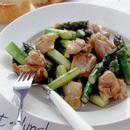 鶏肉とアスパラの炒めもの