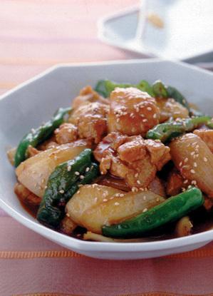 鶏肉と野菜の韓国風煮もの