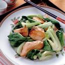 鮭と青梗菜の炒めもの