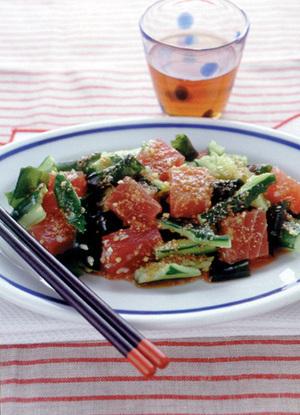 まぐろの中華風サラダ