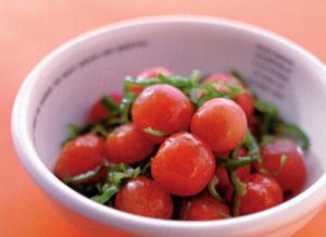 プチトマトとピーマンのポン酢あえ