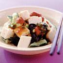 たたききゅうりと豆腐の梅肉あえ