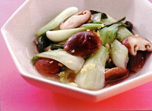 青梗菜の中華風炒め煮
