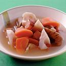 ベーコンと根菜のコンソメスープ