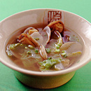あさりとレタスの中華風スープ