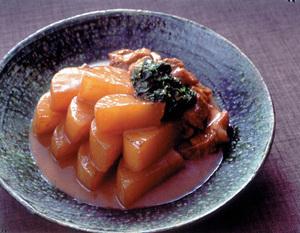 大根と豚肉の甘辛みそ煮