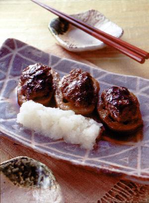れんこんの肉詰め照り焼き