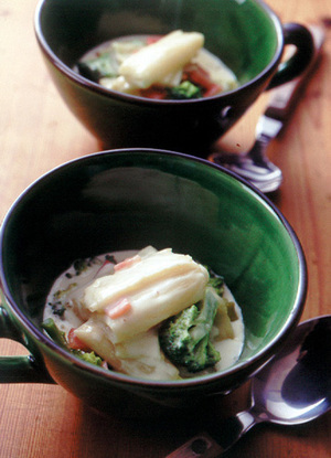 ねぎとブロッコリーのクリーム煮