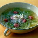 ソーセージと玉ねぎのスープ