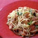 焼き鮭クリームのスパゲティ