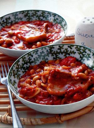 豚バラ肉と大豆のトマト煮
