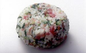カリカリ梅+野沢菜のおにぎり