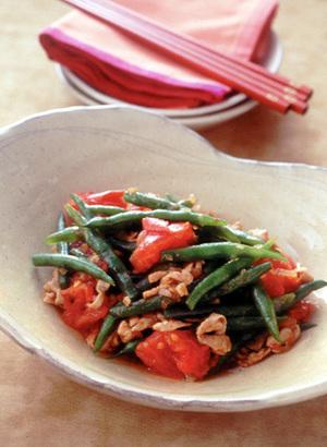 いんげんとトマトの炒め煮