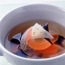 大根とにんじんのこしょう風味スープ