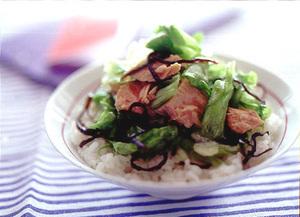 レタスツナ丼