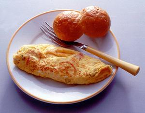 洋風朝ごはんの素でオムレツ