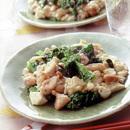 豆腐と菜の花の塩味炒め