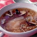 シュウマイの皮とザーサイのスープ