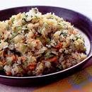 鮭と菜の花の炒飯