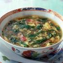 セロリとベーコンのピリ辛スープ