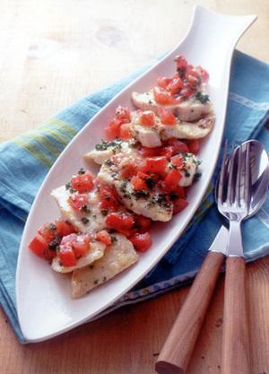 めかじきのソテー トマトマリネ