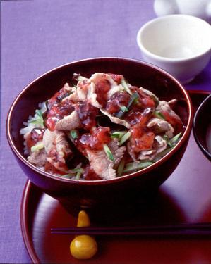 豚しゃぶ梅風味丼