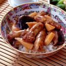 豚肉とたけのこの中華丼