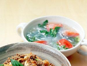 春雨とトマトのスープ