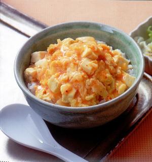 キムチ豆腐の卵丼