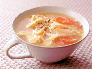 トマトと新玉ねぎのかきたまスープ