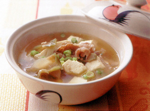 豚肉と豆腐のザーサイスープ