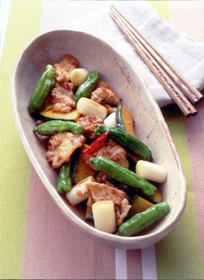 豚薄切り肉と夏野菜の焼きびたし