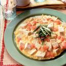 豆腐とたらこのオープンオムレツ