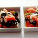 トマトとわかめのごま風味サラダ