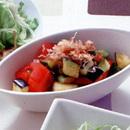 きゅうり、なす、トマトのコロコロサラダ