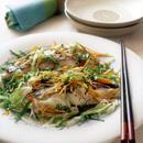 白身魚と野菜のレンジ香り蒸し