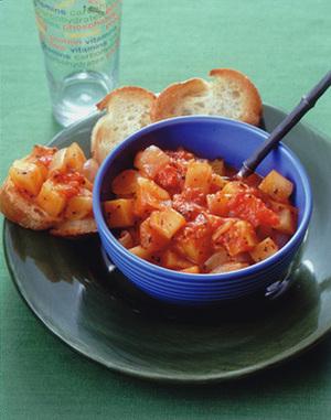 コロコロじゃがいものトマト煮