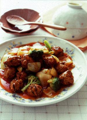 ひじき入り肉団子の酢豚風