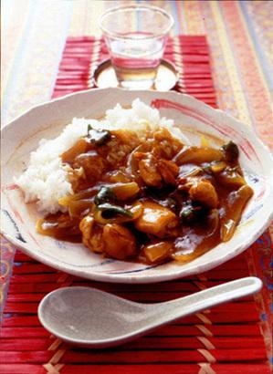 中華風チキンカレー