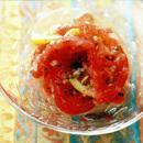 トマトのレモン風味サラダ