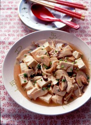 豆腐ときのこの和風煮