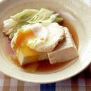 豆腐とねぎのすき焼き風