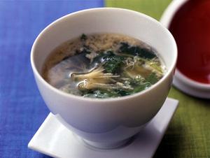三つ葉と卵のスープ