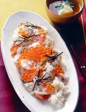 鮭とイクラの炊き込みずし