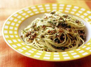 パセリのジェノバ風スパゲティ