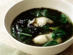 小松菜とかきのスープ