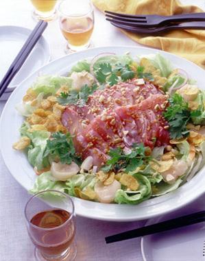 野菜たっぷり中華風お刺し身