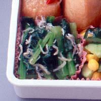 小松菜とじゃこの炒めもの